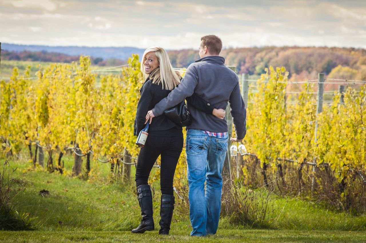 Couple winery Traverse City Michigan