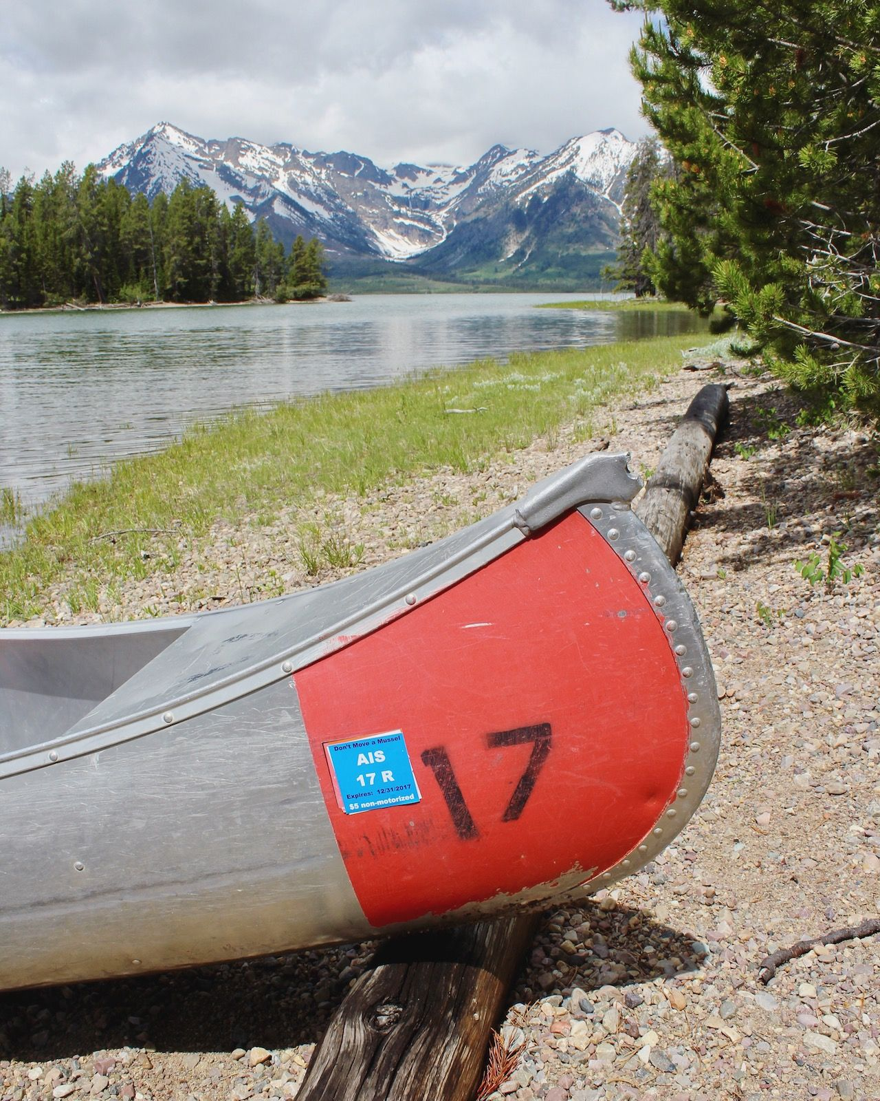 The ultimate way to experience the Grand Tetons is by canoe