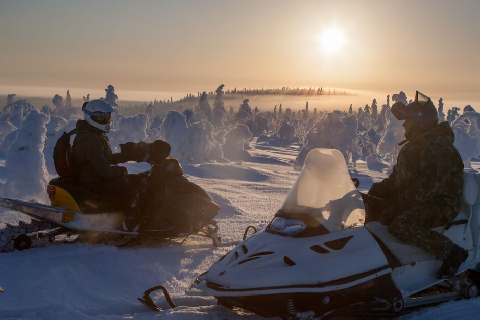 Snowmobile Finland winter