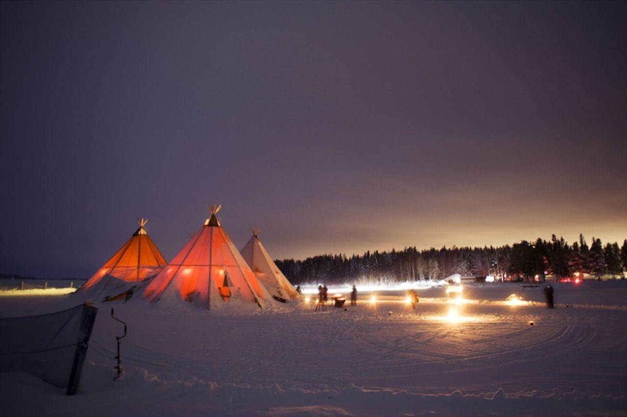 Brandon Sweden tents dinner