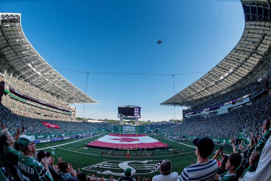 Riders New Mosaic Stadium Regina Saskatchewan