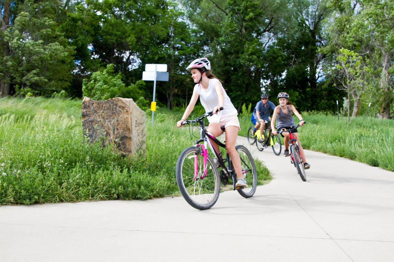 Kids biking in Boulder, CO