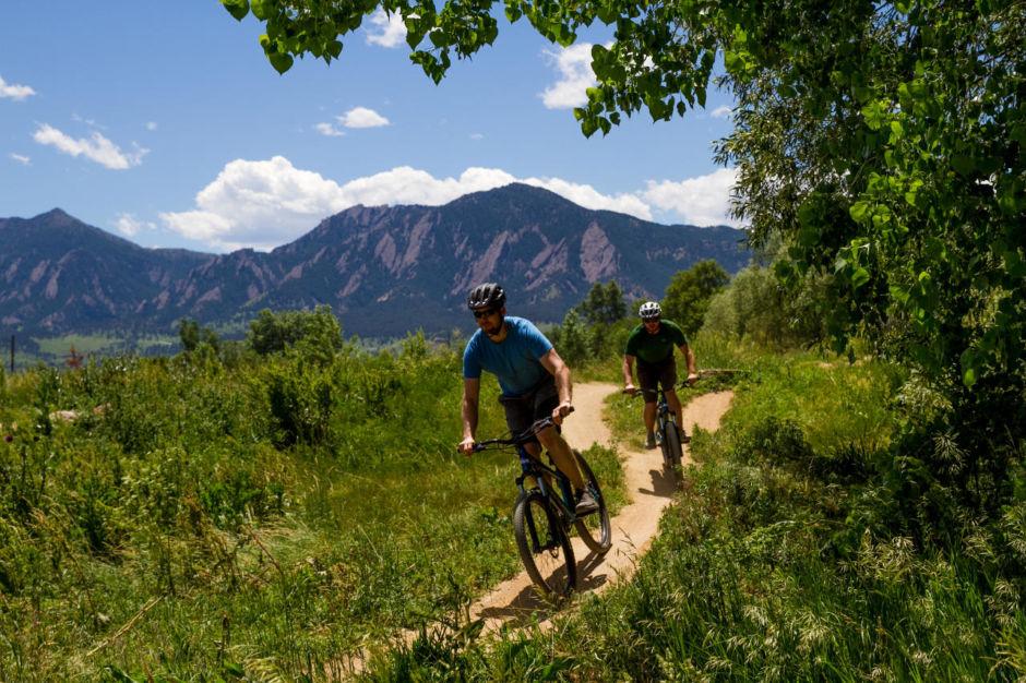 Mountain biking Boulder, CO