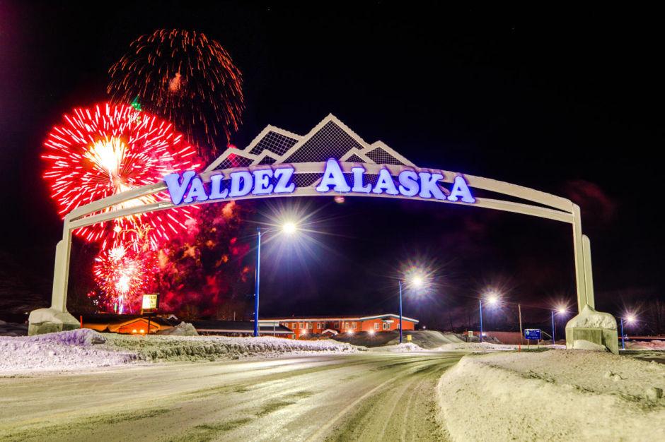 NYE fireworks in Valdez, AK