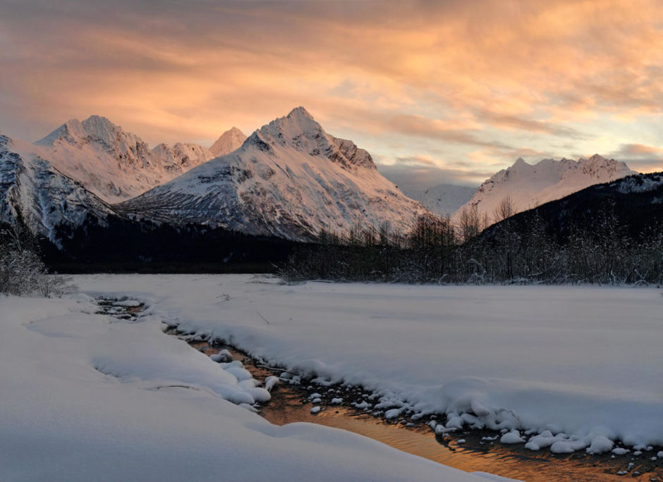 Chugach Mountains sunset