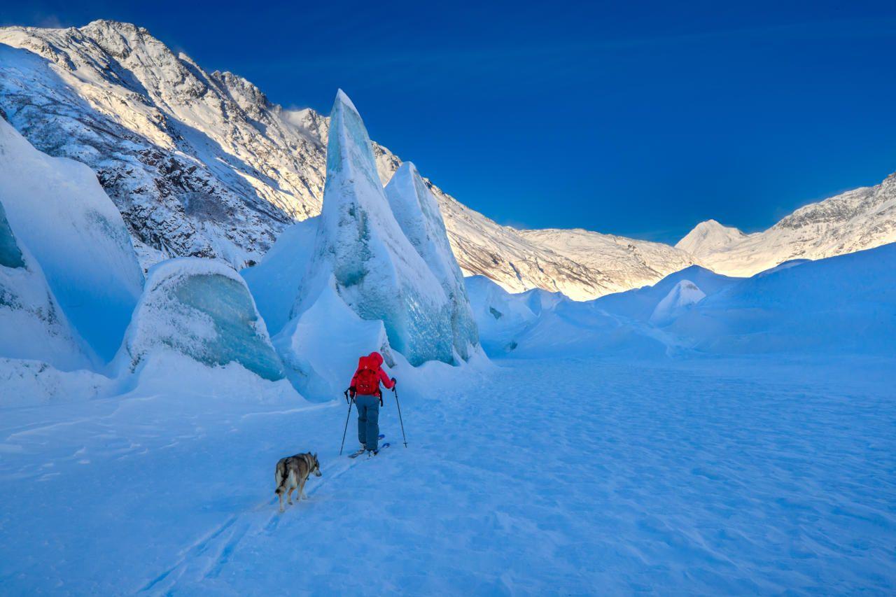 Cross-country skiing Valdez, AK