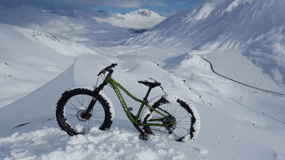 Fat biking Valdez, AK