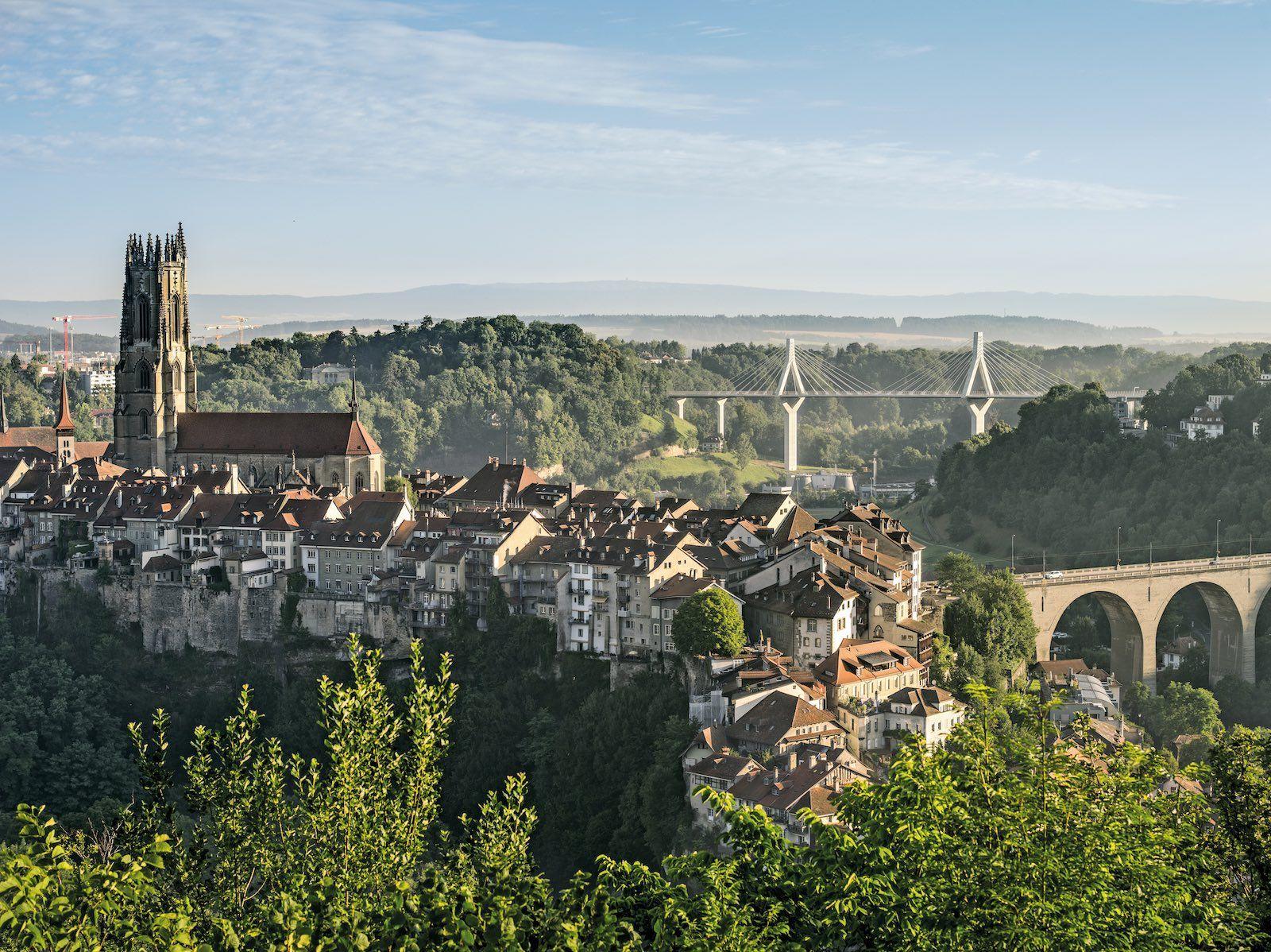 Fribourg Switzerland Alps