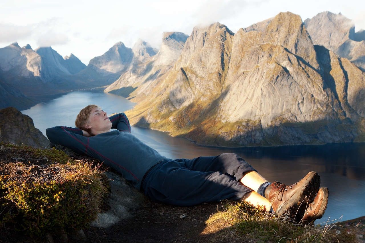 Lofoten Norway lake resting