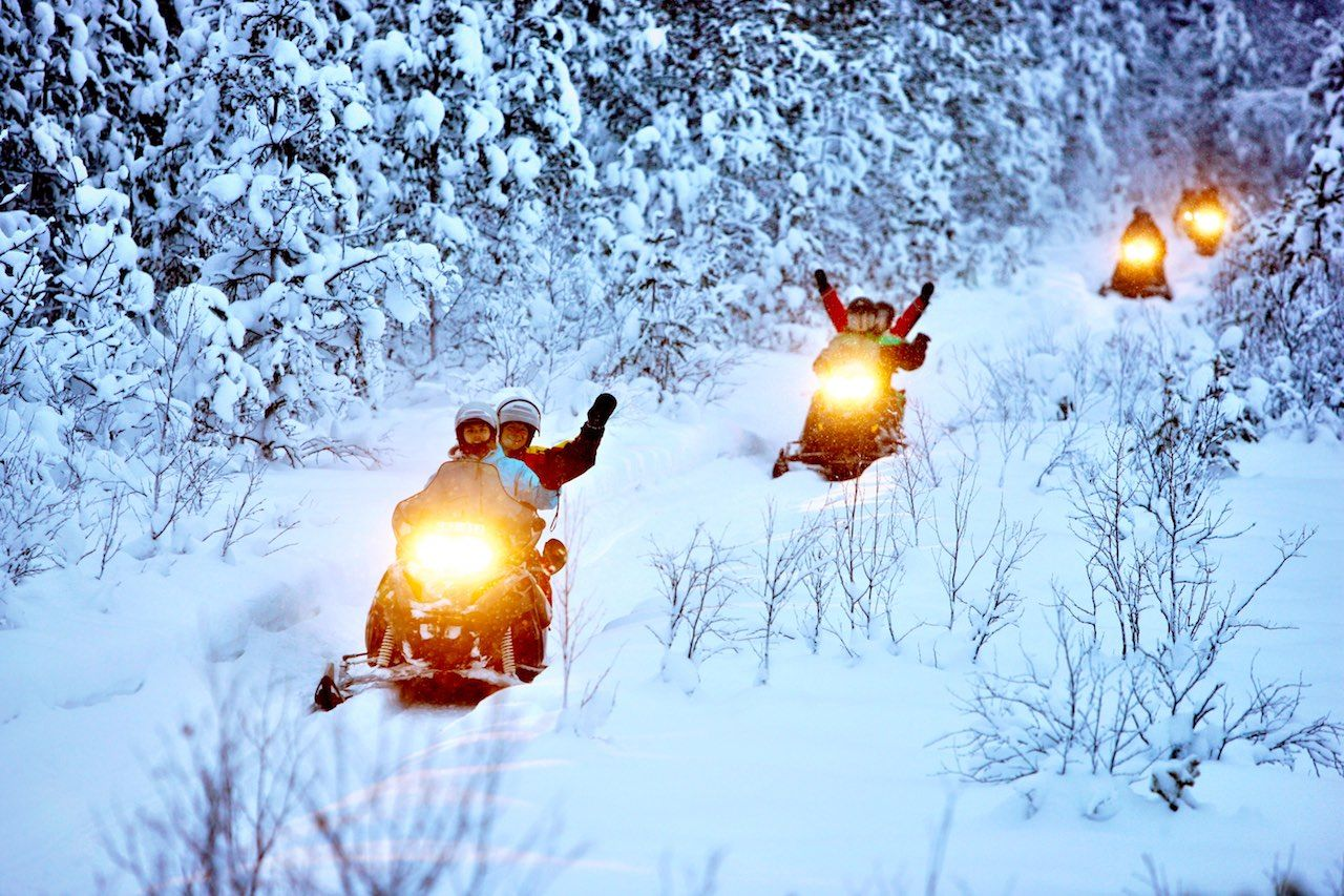 Snowmobile safari Arctic Europe