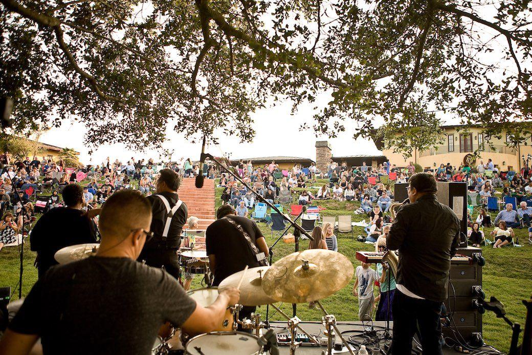 Ca Del Grevino vineyard live music Santa Maria Valley California