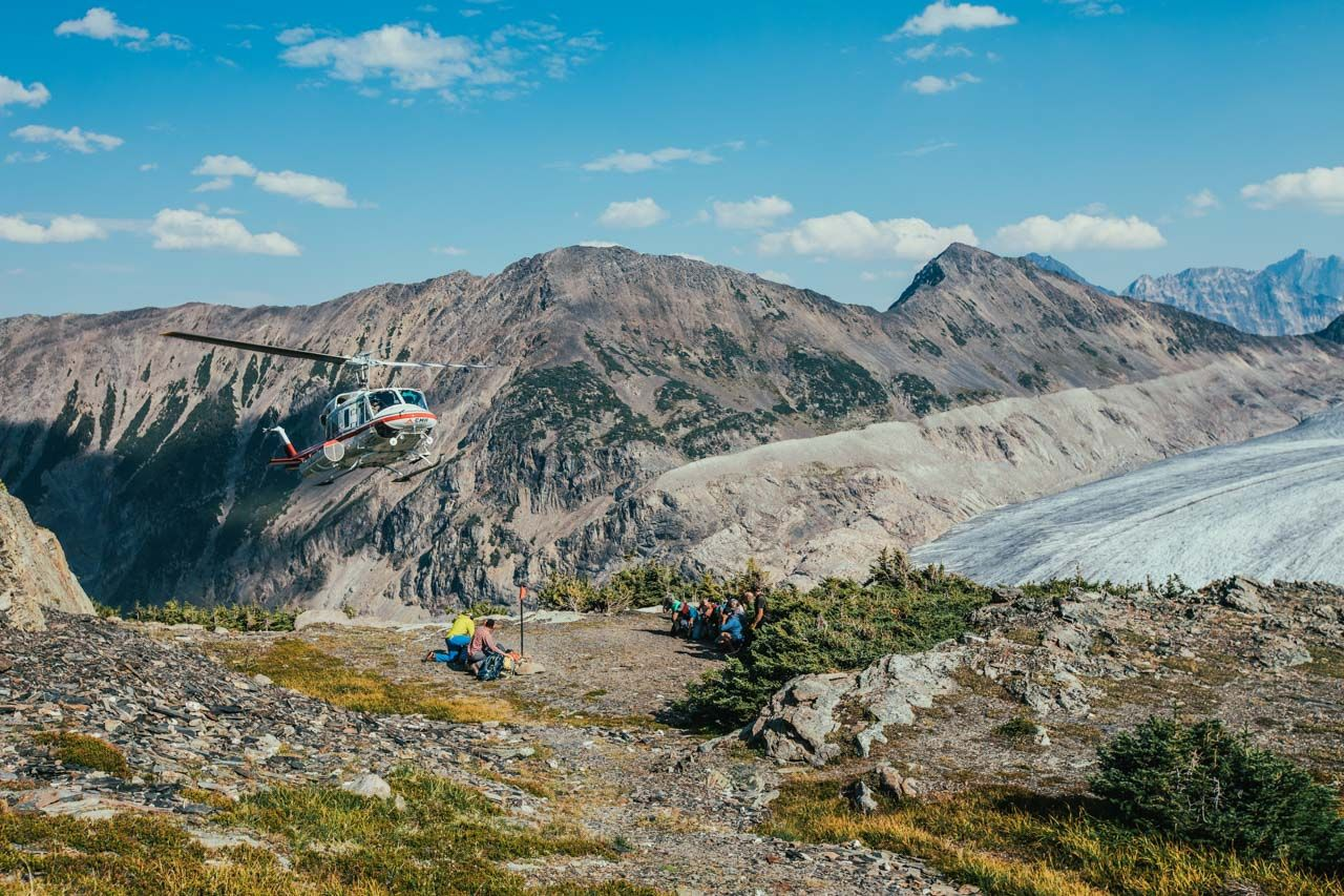 heli-hiking in BC