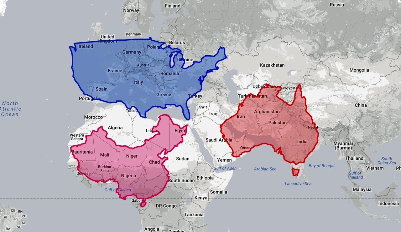 This incedible map tool lets you see just how distorted the Mercator ...