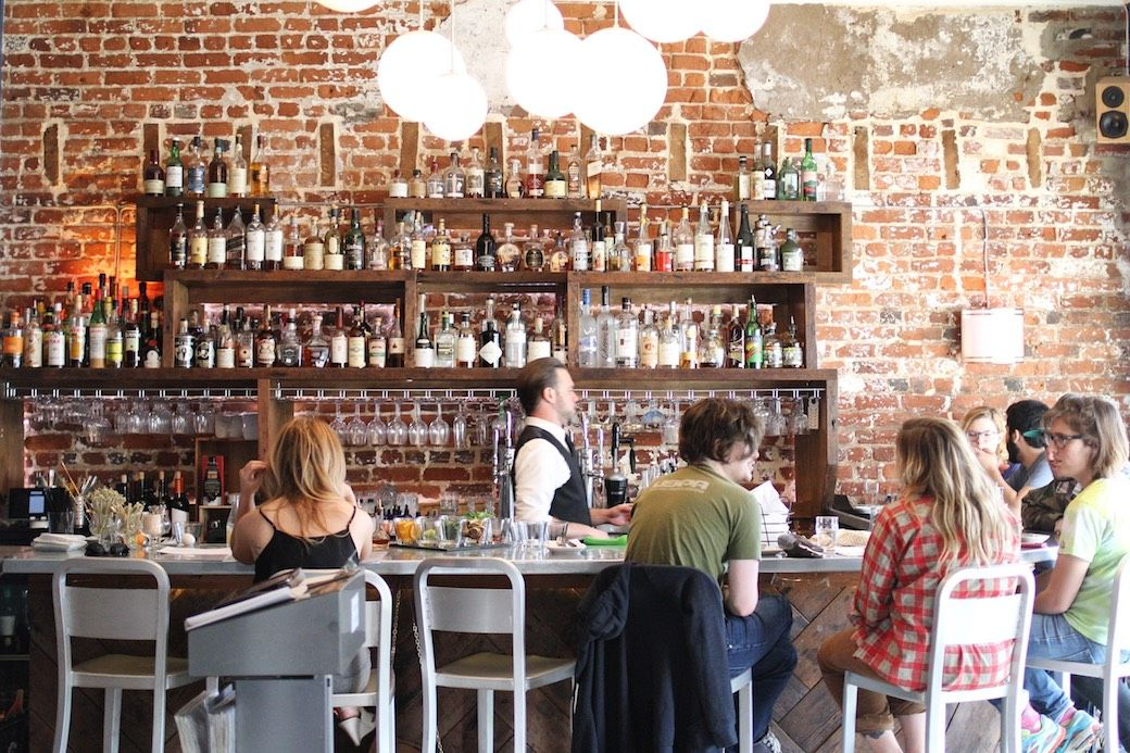 Kybecca Restaurant Fredericksburg Virginia bar people