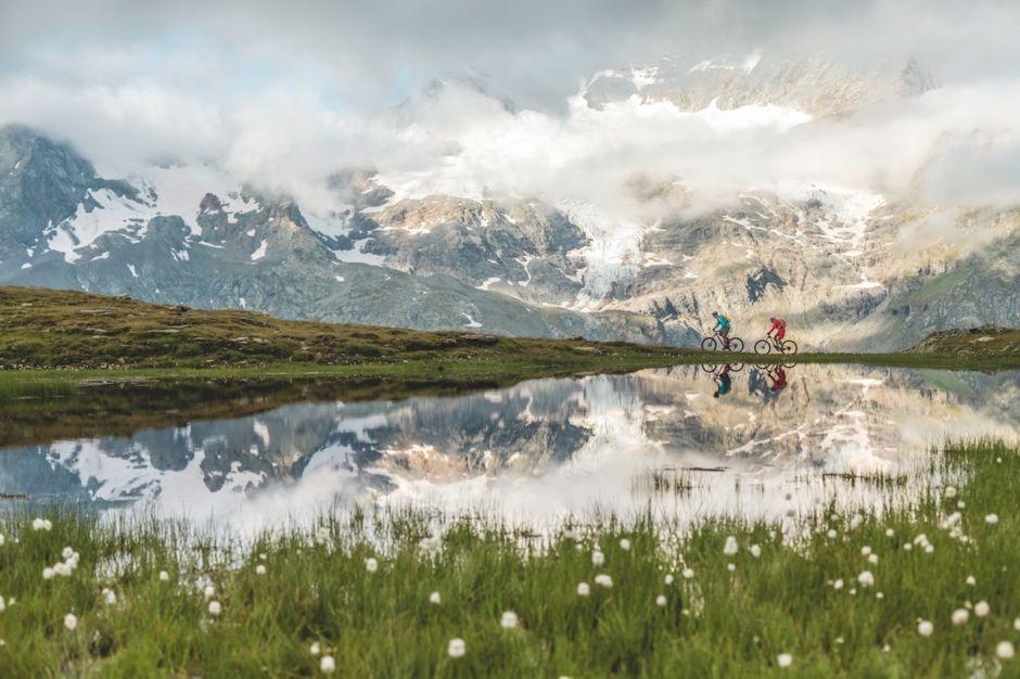St. Moritz Switzerland lake biking