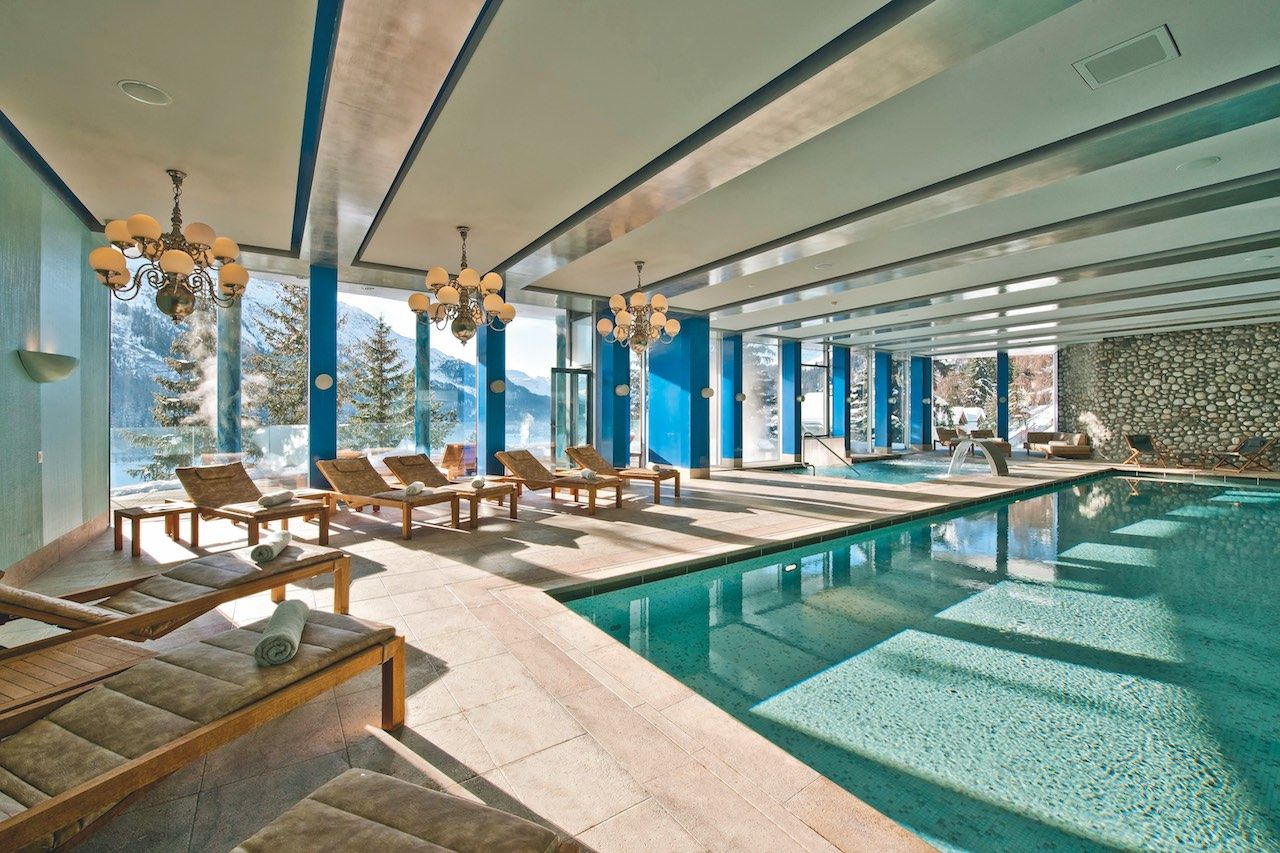 The Carlton Hotel St. Moritz Switzerland Alps pool