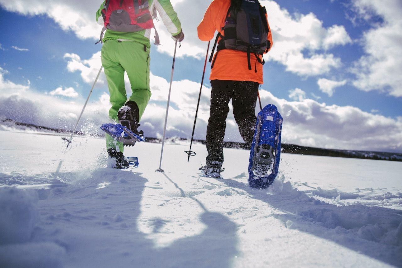 Wyoming winter snowshoeing