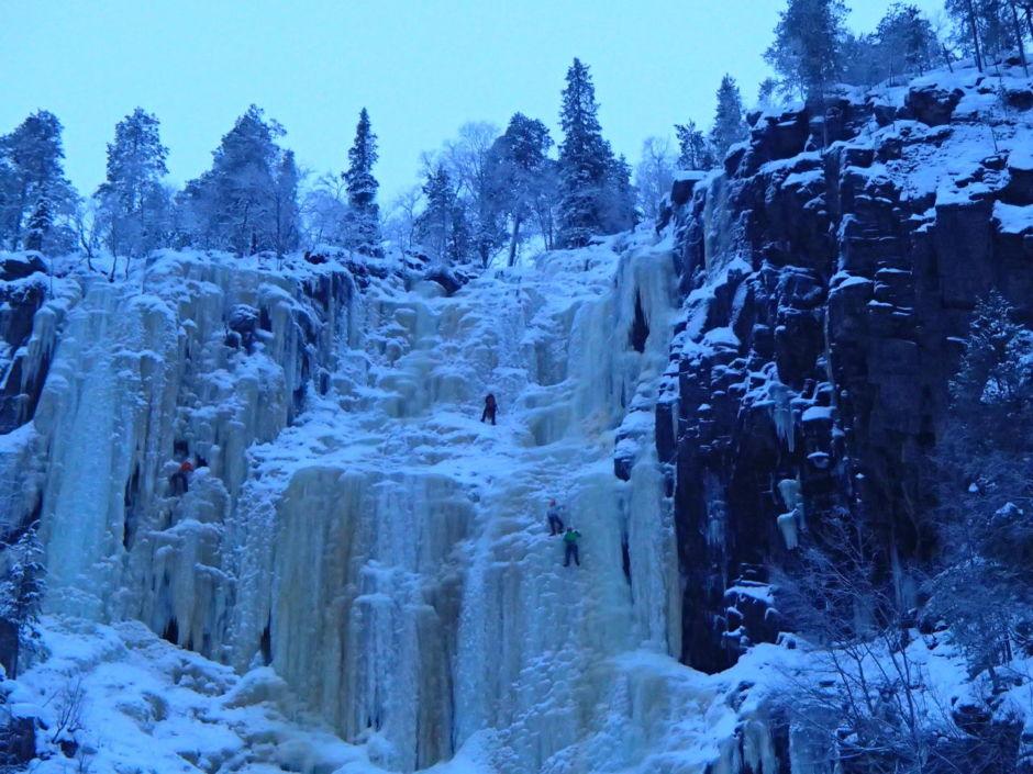Ice climbing, an Arctic Europe winter experience