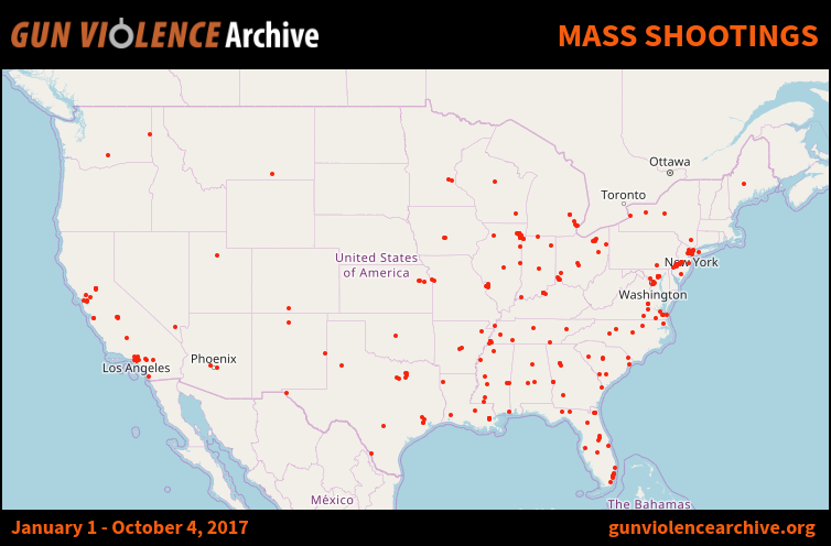 this other one was created by vox using gun violence archive as a source the mass shootings that have been counted by the gun violence archive since 2013