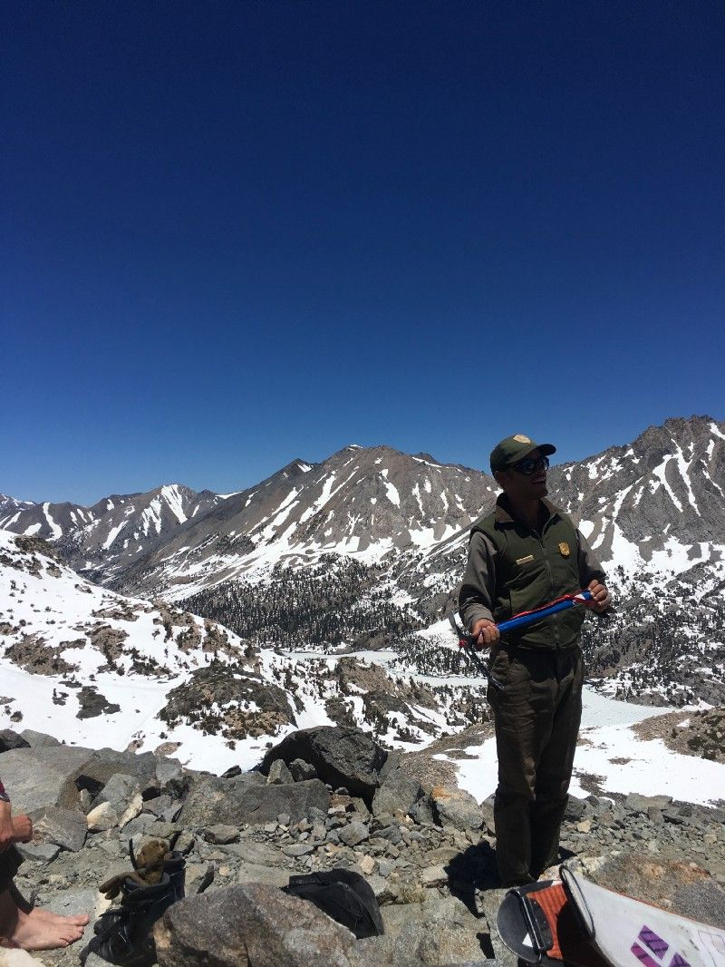 Pacific Crest Trail, top of Glen Pass