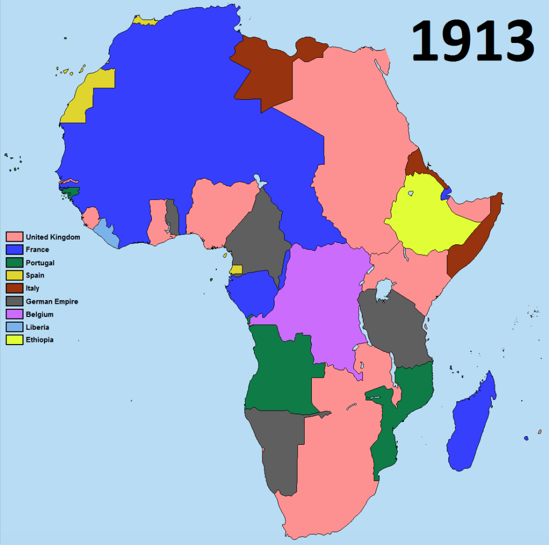 Africa after colonization map