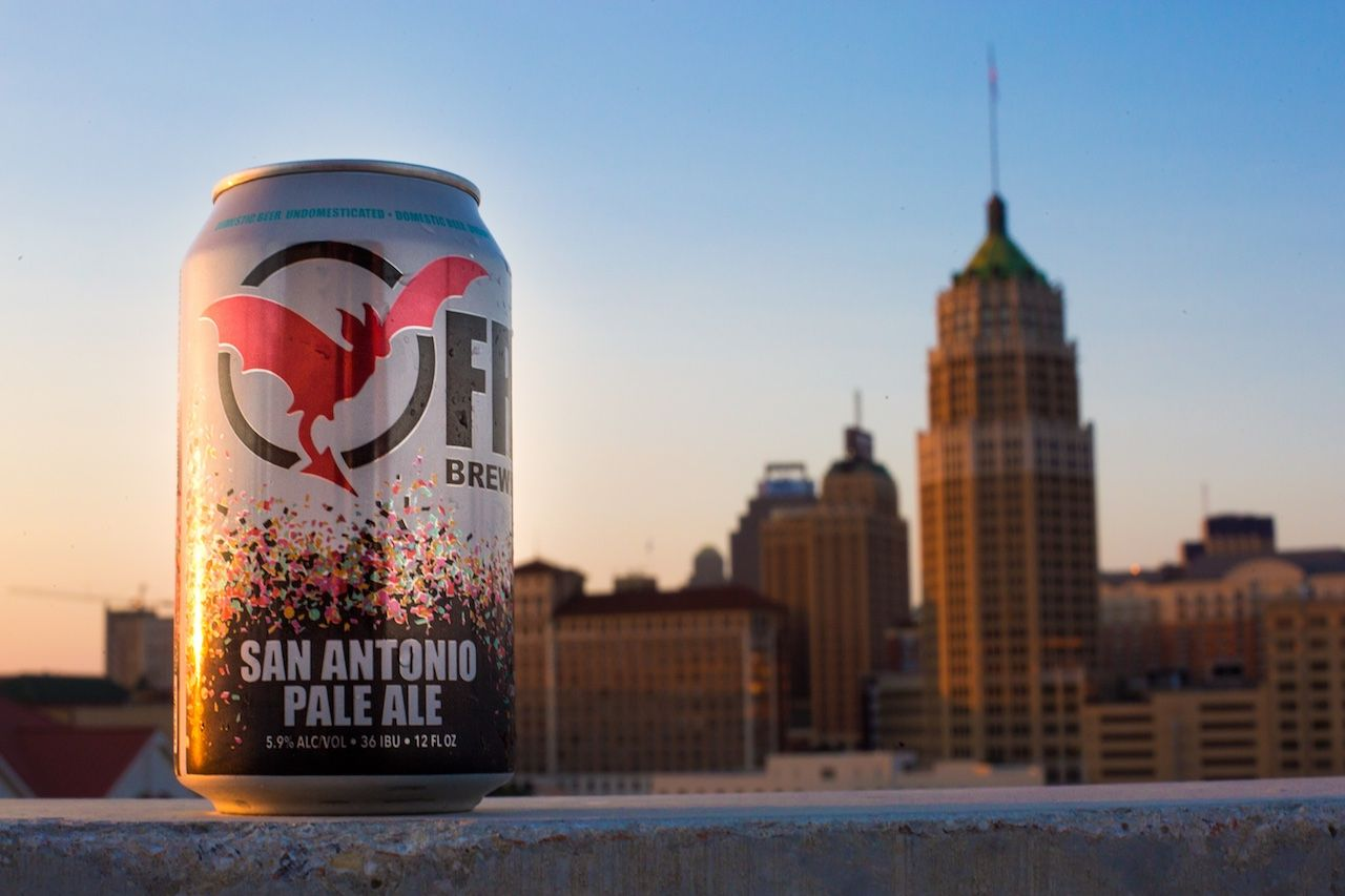 Freetail Brewing San Antonio skyline