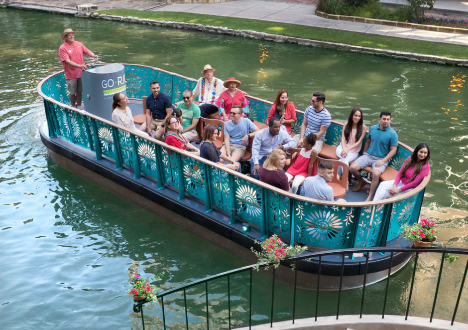 San Antonio River barge