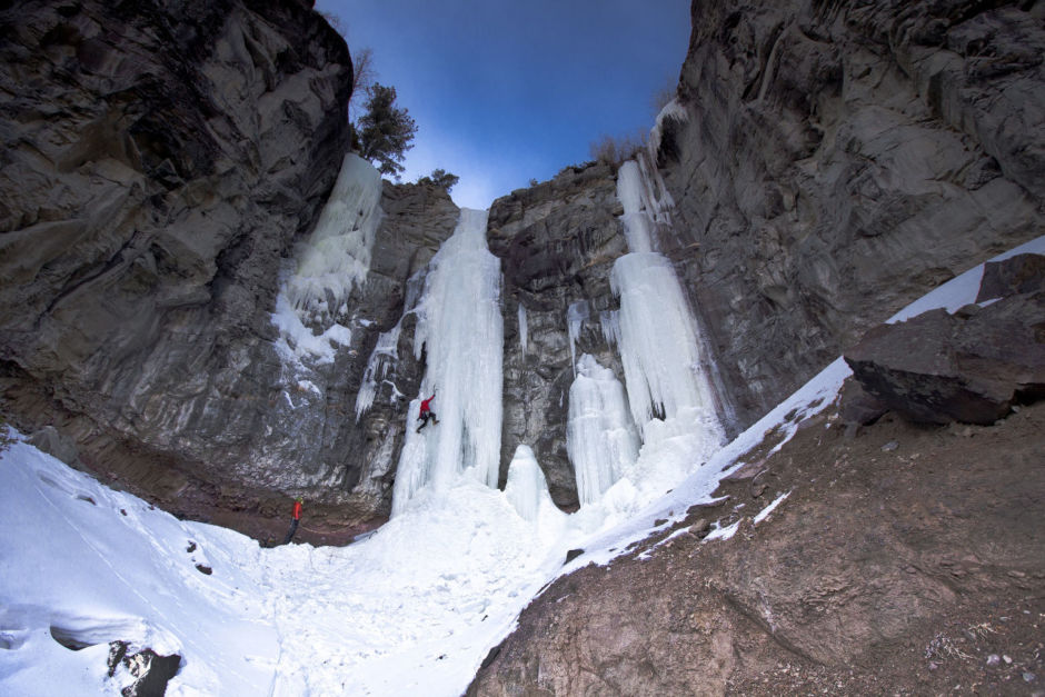 Ice climbing, a Wyoming winter adventure