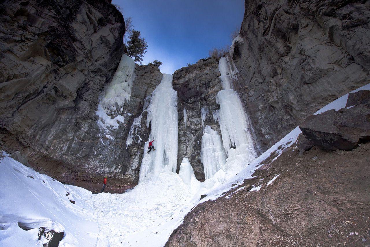 Ice climbing, a Wyoming winter adventure