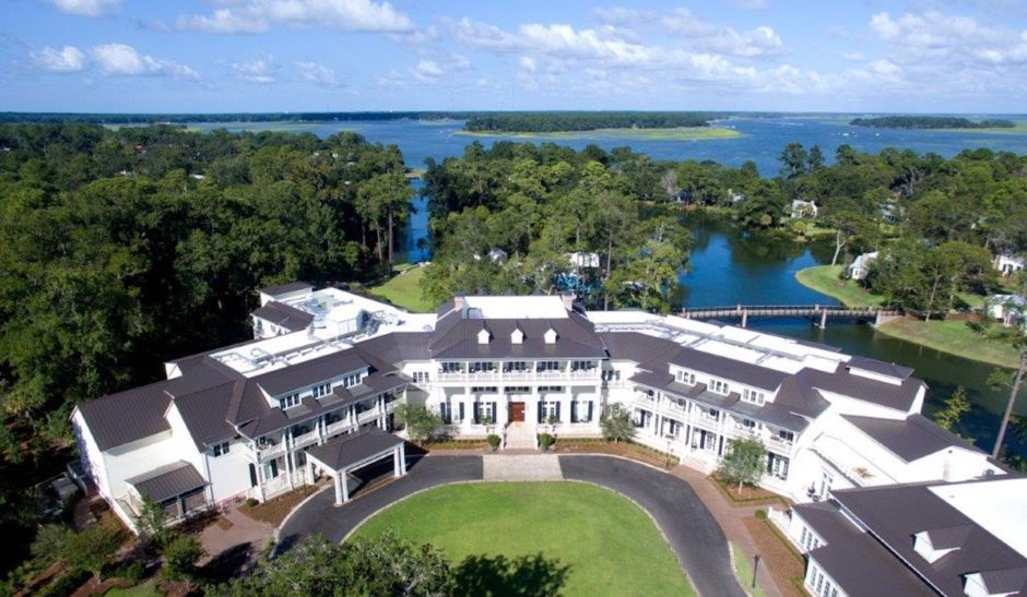 Inn at Palmetto Bluff aerial view
