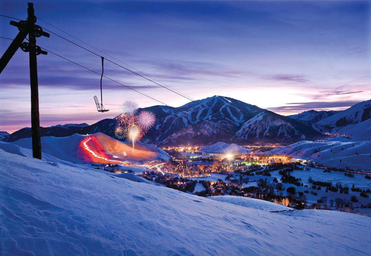 Sun Valley winter snow
