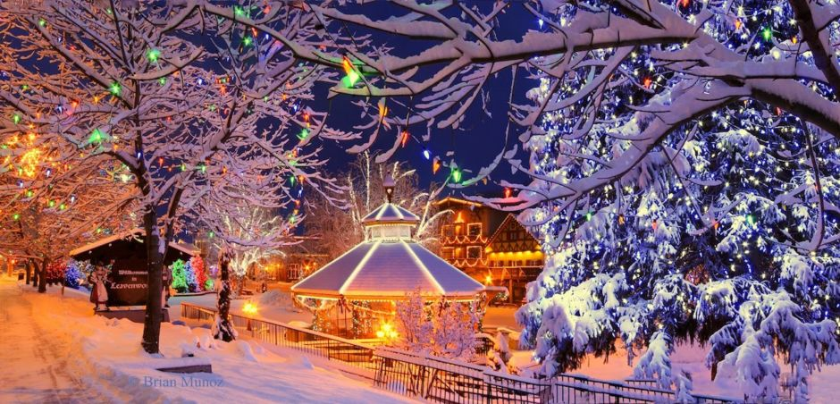 Leavenworth winter lights Brian Munoz