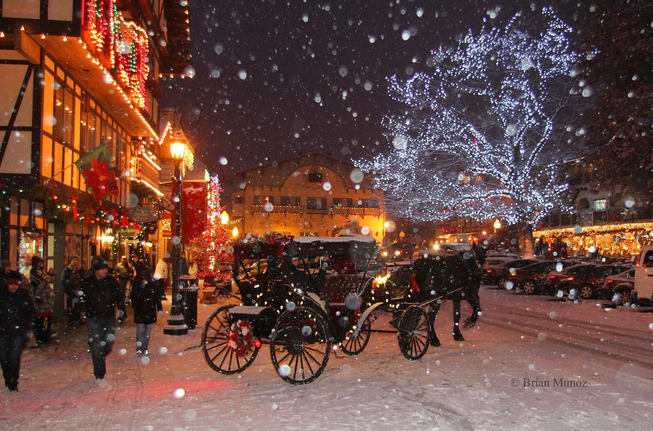 Christmas shopping in Leavenworth, WA