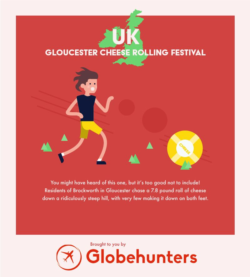 unusual celebration UK infographic