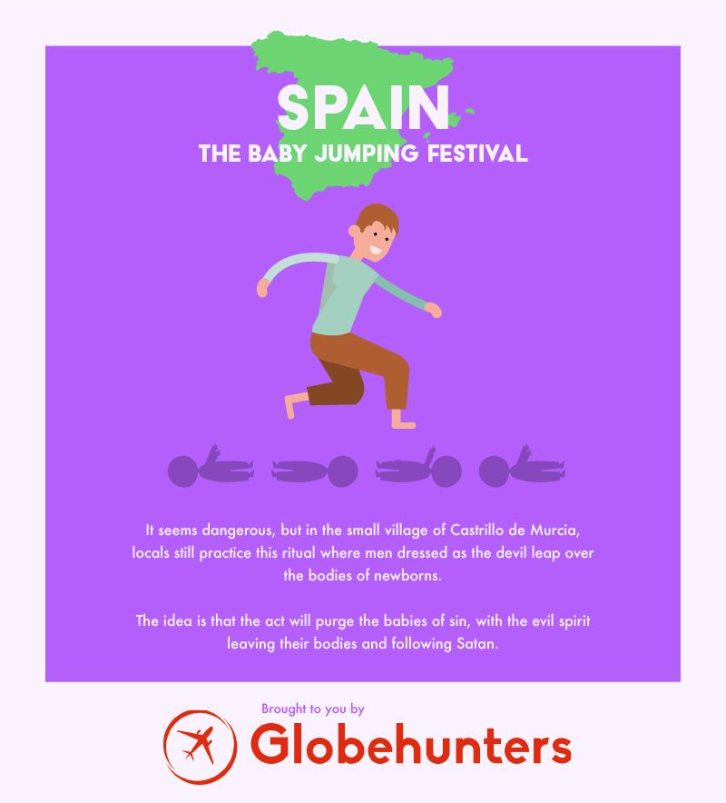 unusual celebration spain infographic