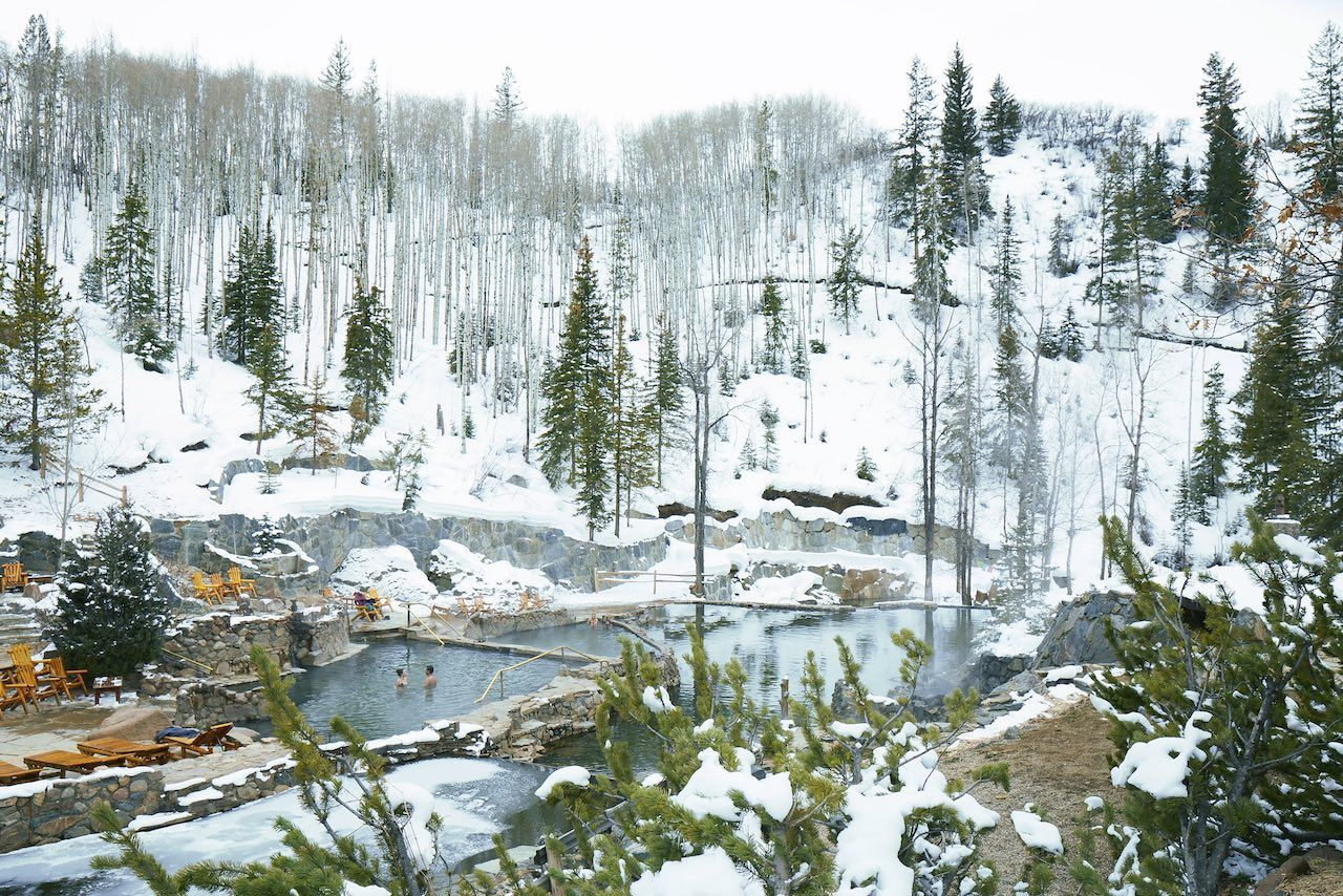 Hot springs winter Colorado