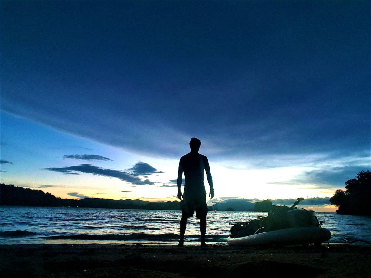 SUP Malaysia sunset