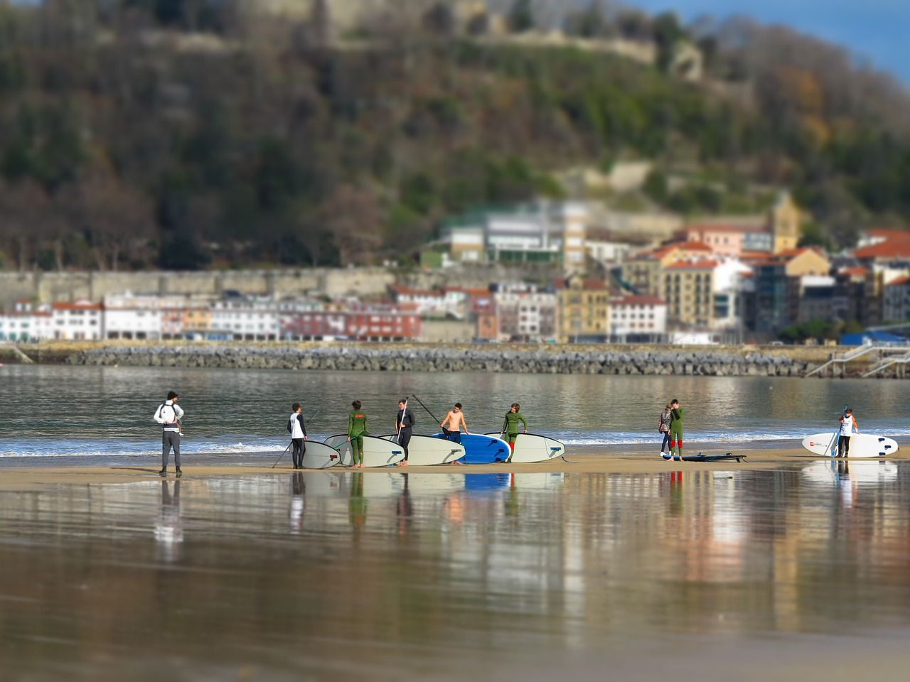 Surfing in san sebastian