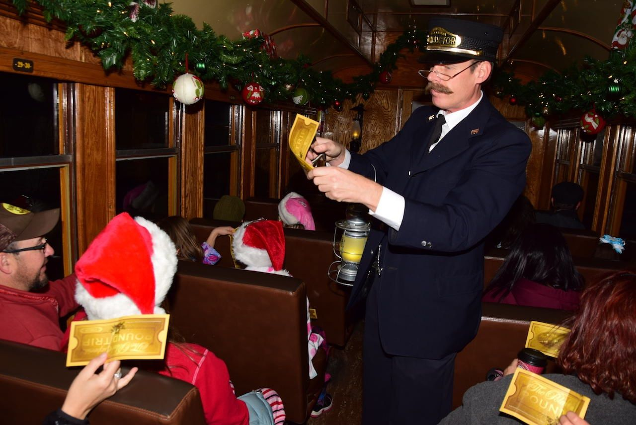 The Polar Express train Durango Colorado