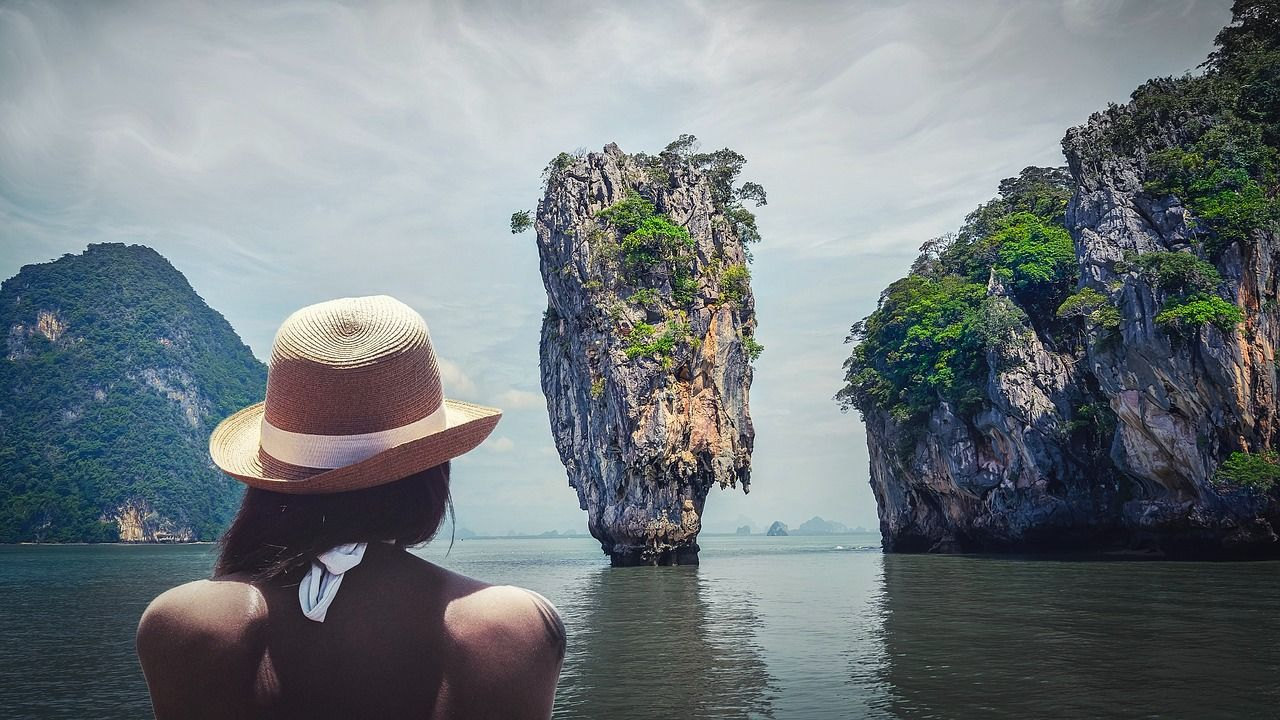 Woman in hat in Southeast Asia