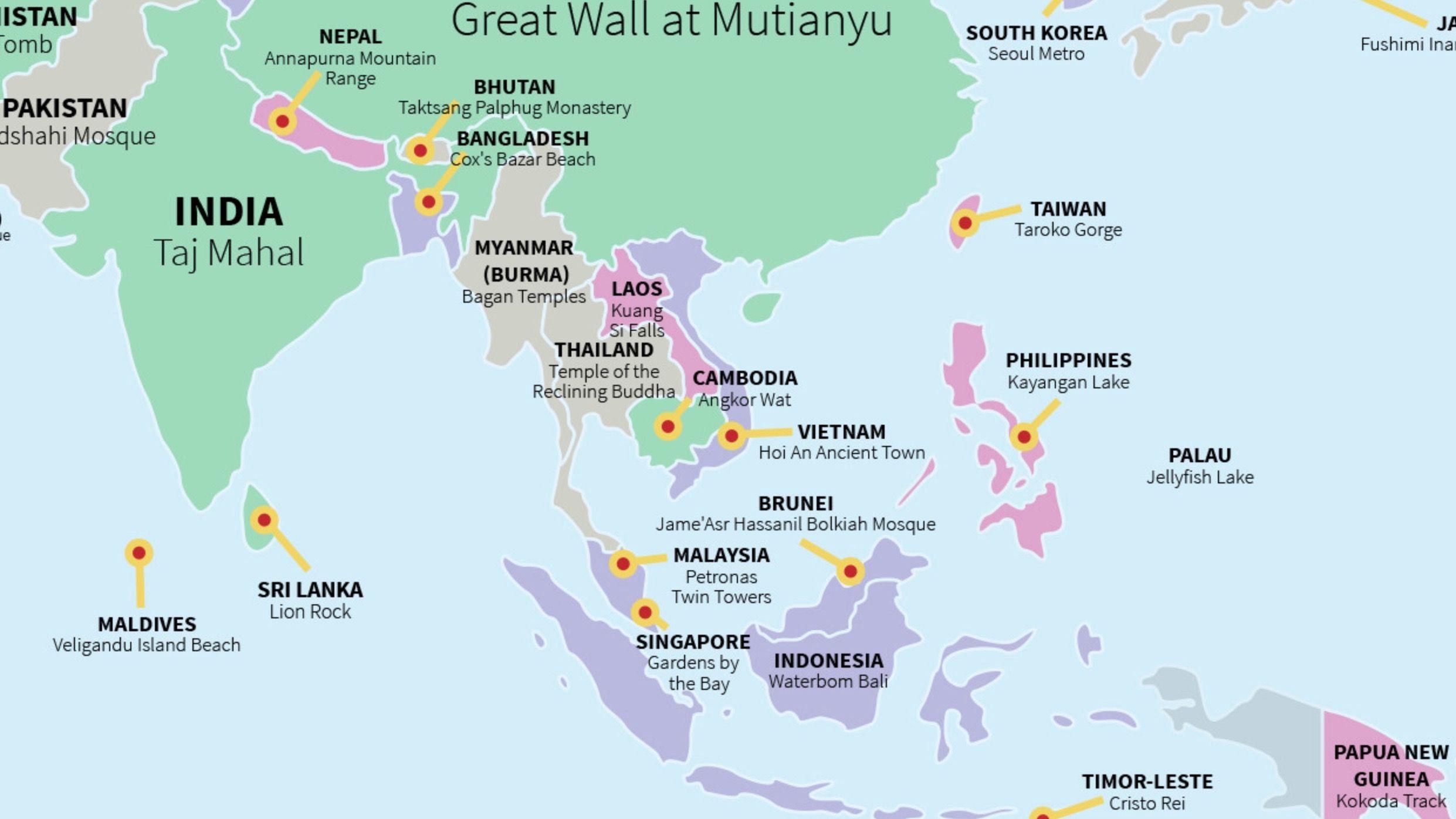 3 Southeast Asia:Oceana Travel Hotspots