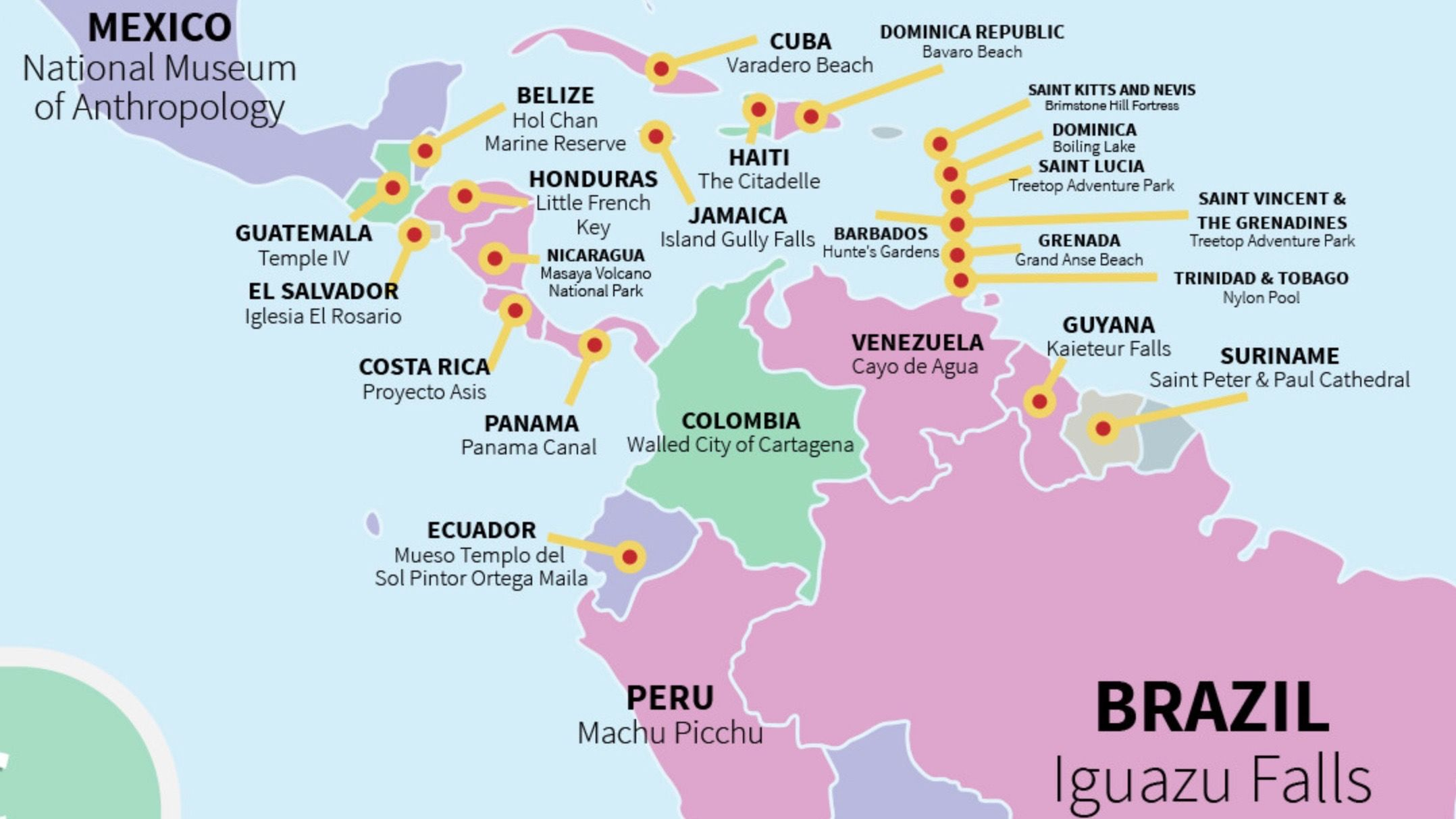 4 Central:South America travel hotspots