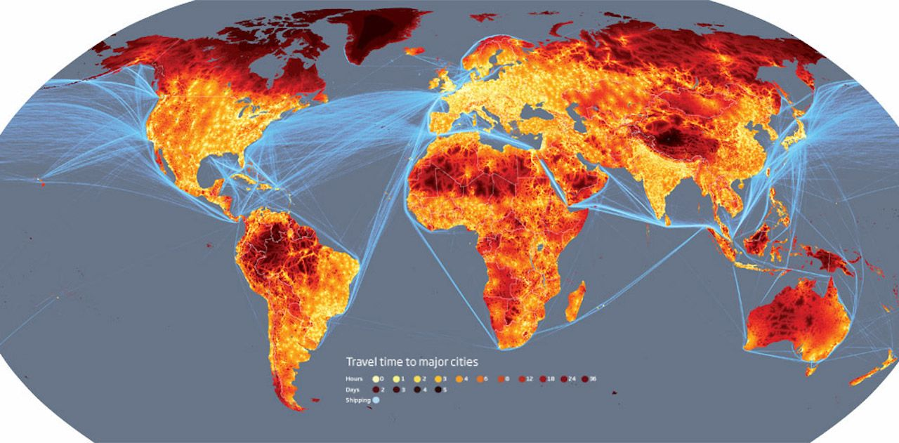 global travel time map