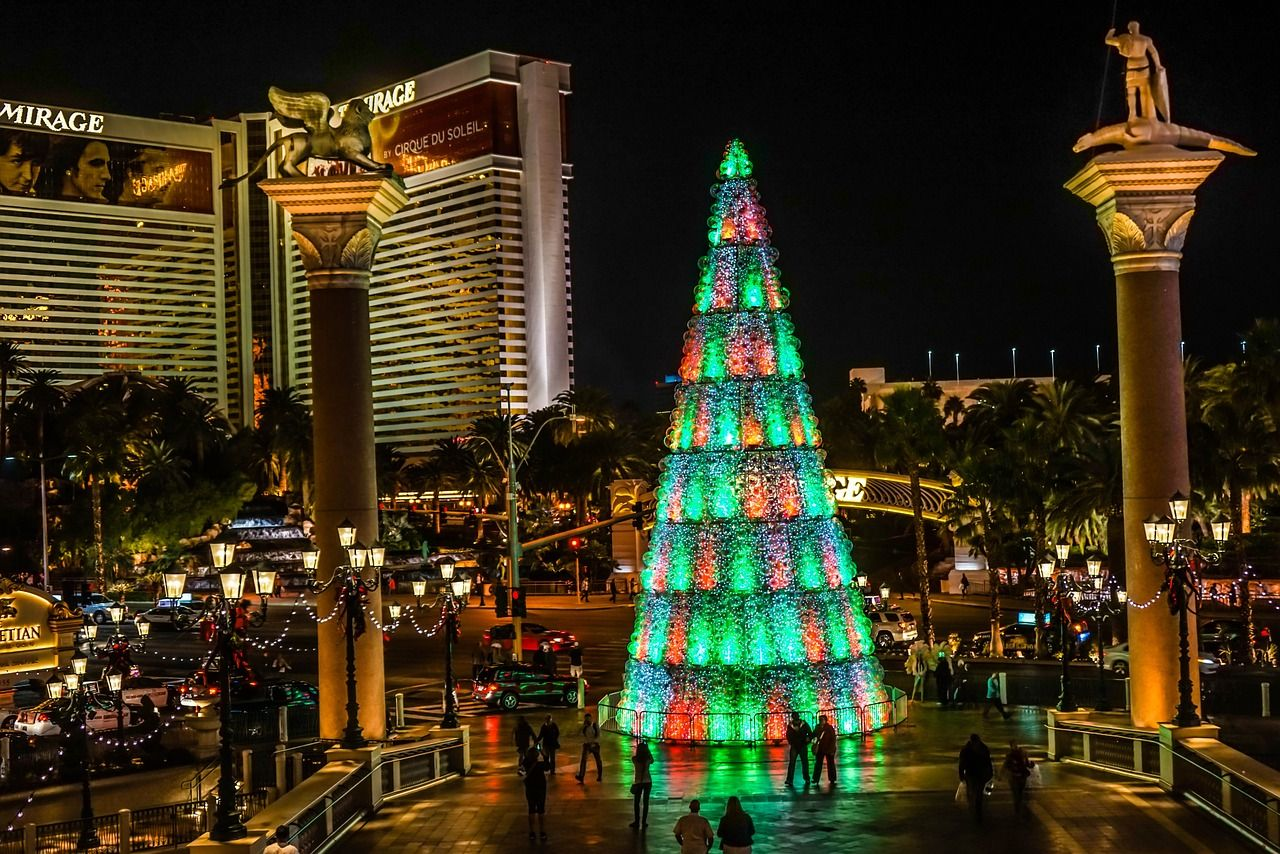 Christmas tree in Vegas