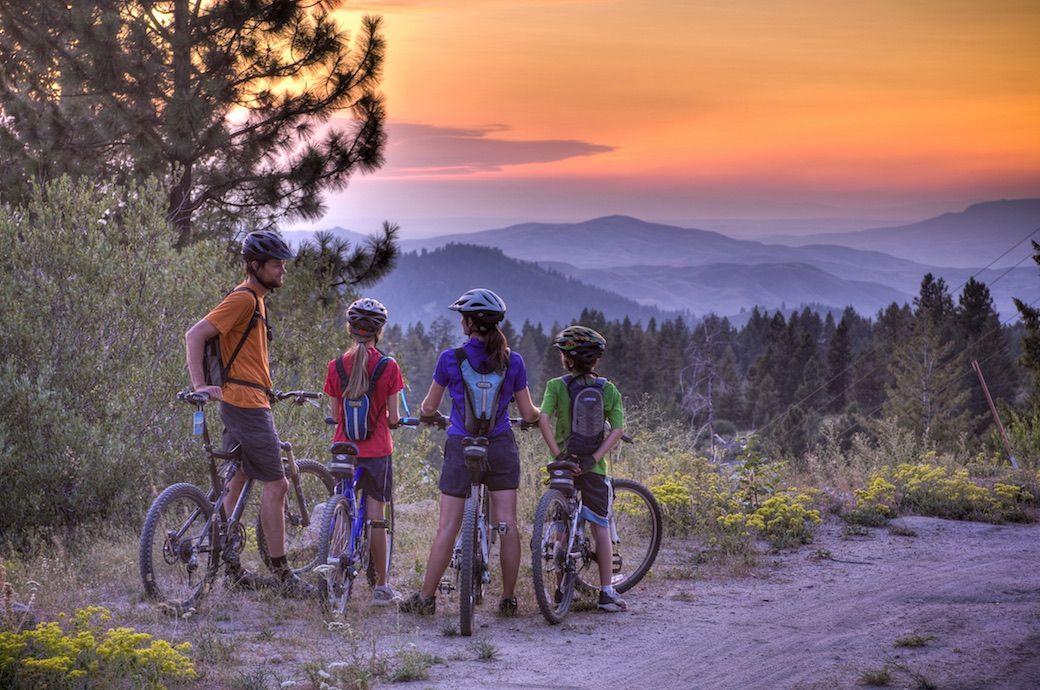 Mountain bike Bogus Basin Boise Idaho