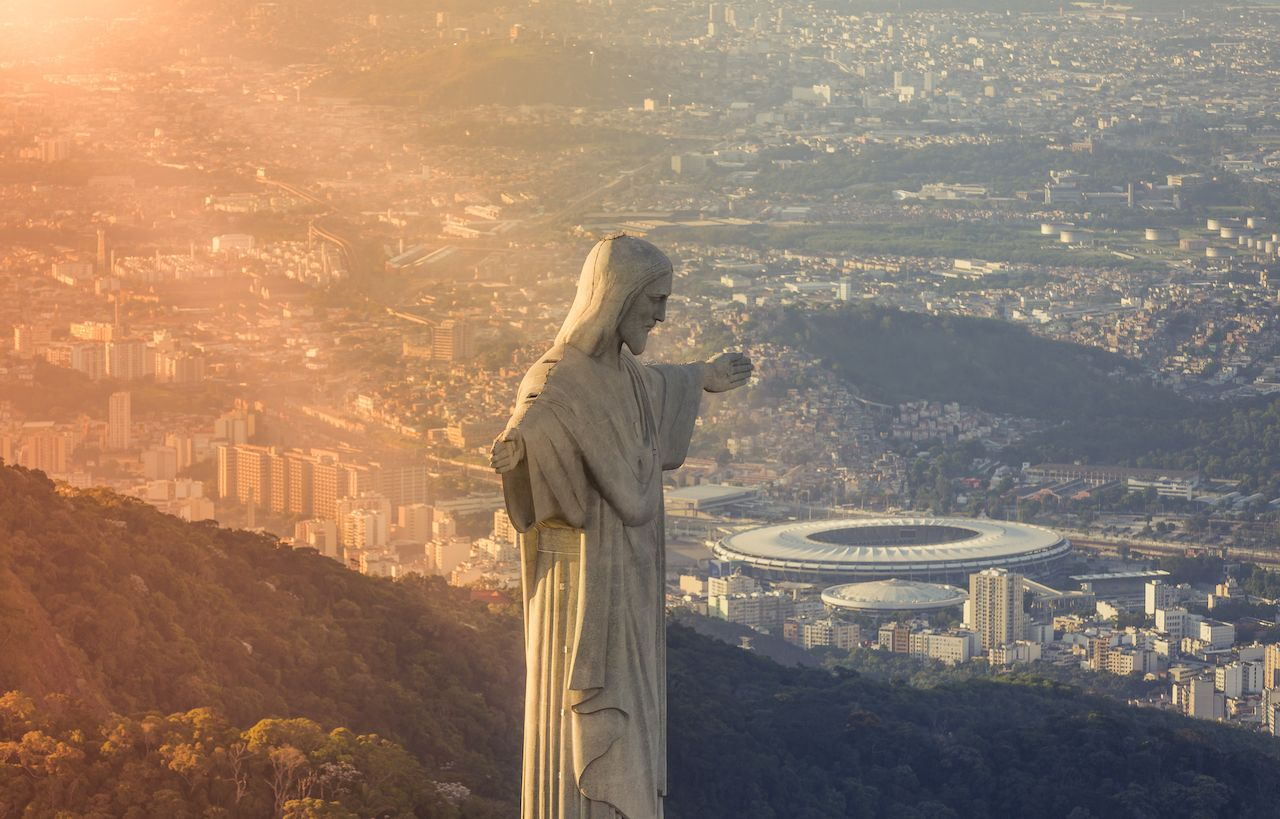 Christ the Redeemer close up