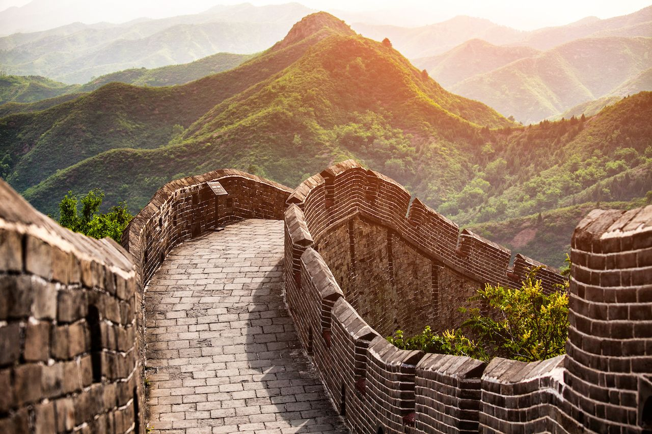 Close up on the Great Wall of China