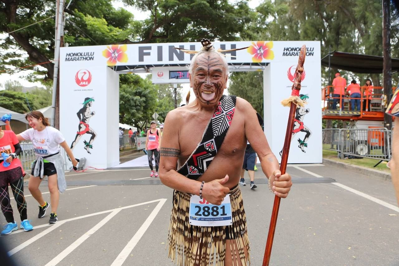 Man in honolulu Marathon