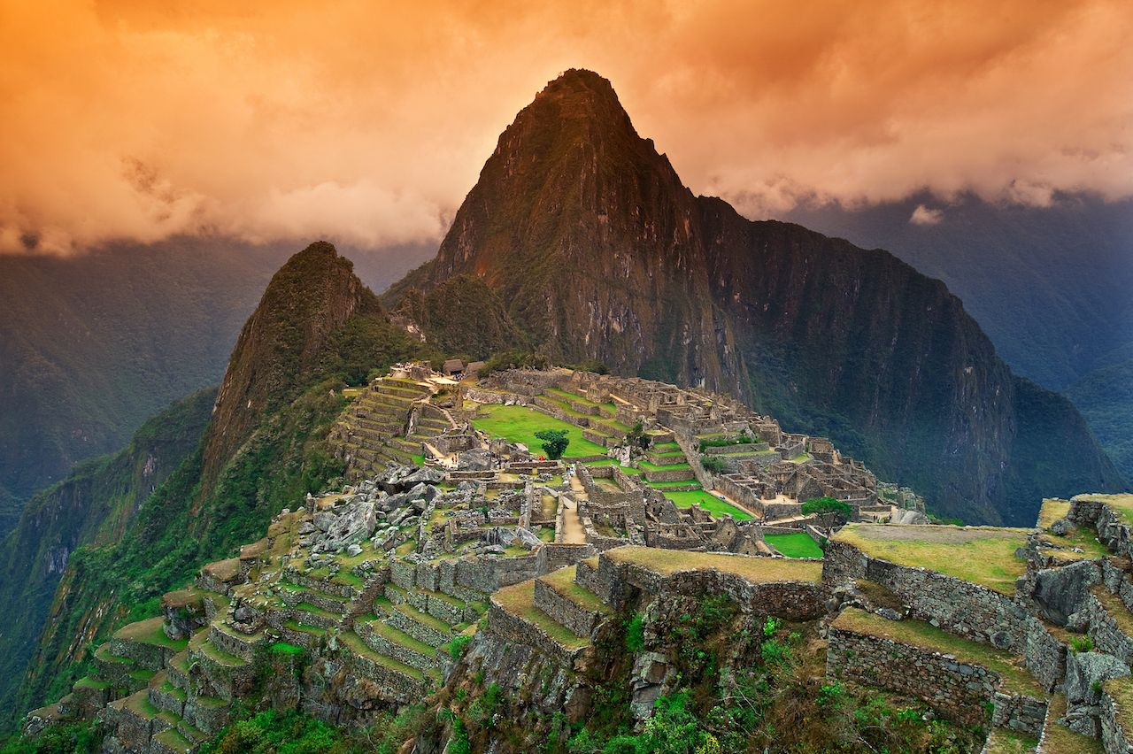 Machu Picchu around sunset