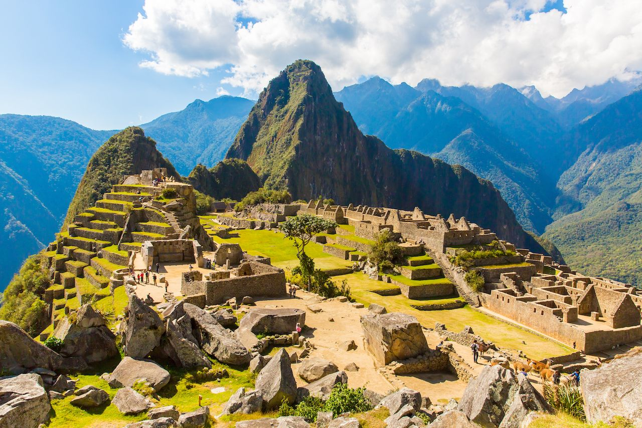 Side view of Machu Picchu